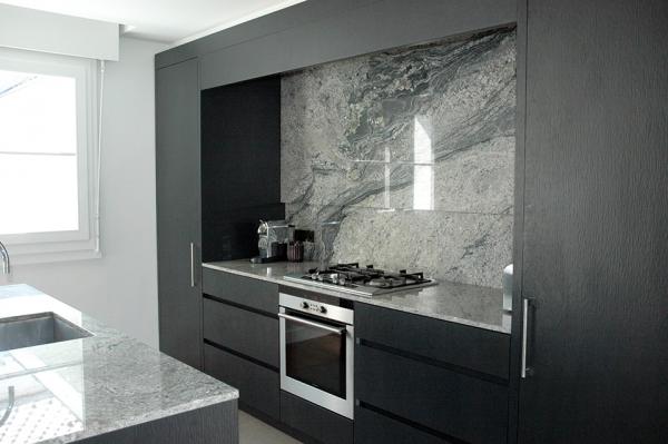 Plan de travail Granit Piracema projet SANSONE cuisine