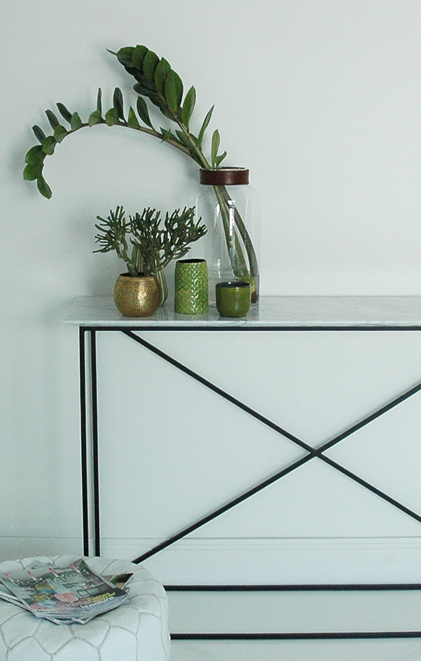 Ateliers SANSONE - White Marble tray console