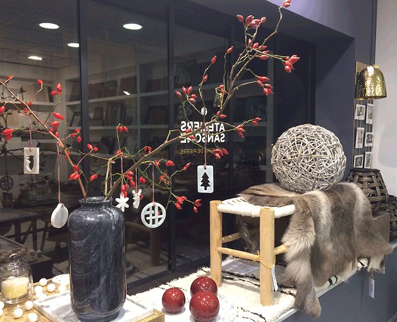 Décoration Noël Marbre blanc boutique