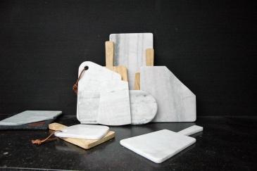 Planches à découper en marbre blanc Ateliers Sansone