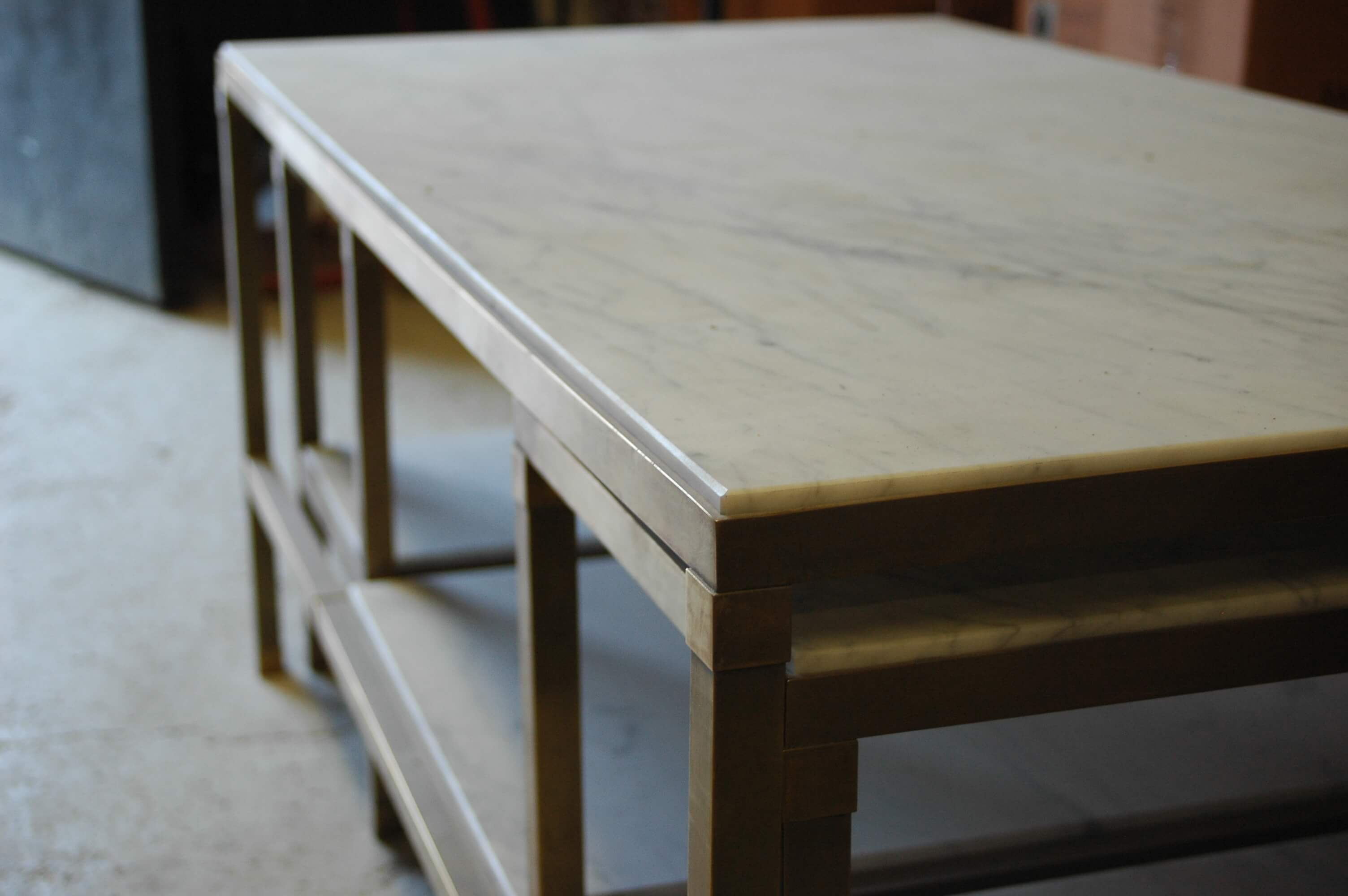 Renovation and transformation of marble into furniture