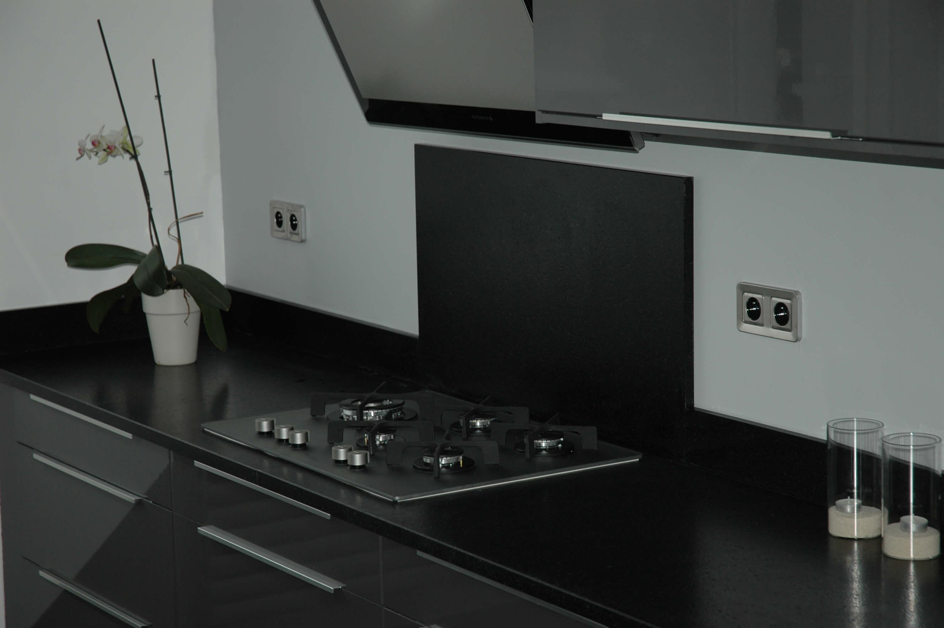 Plan De Travail Cuisine En Granit Noir plan de travail de cuisine en granit noir - ateliers sansone