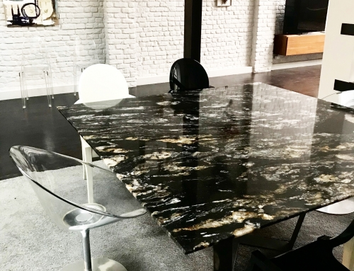 | TABLE SUR-MESURE | Granit Black Forest